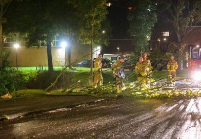 Stormschade houdt Apeldoornse brandweer bezig